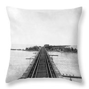 Fishing Village In Key West Throw Pillow