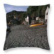Fishing  Village Throw Pillow