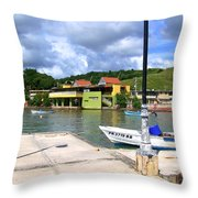 Fishing Village Puerto Rico Throw Pillow