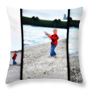 Fishing With Dad - Catch And Release Throw Pillow