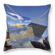 Fishing With Paint Throw Pillow