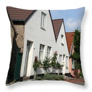 Fishingvillage Holm Throw Pillow