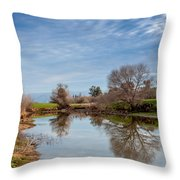Fishng Hole Throw Pillow