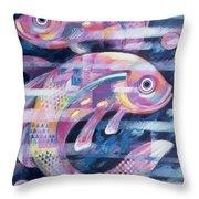 Fishstream Throw Pillow by Sarah Porter