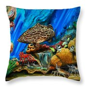 Fishtank Throw Pillow
