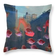 Fishy Shoes Throw Pillow