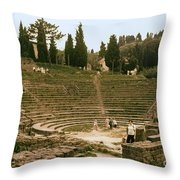 Fisole Theatre Ruins Throw Pillow