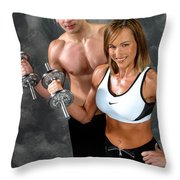 Fitness Couple 17-2 Throw Pillow