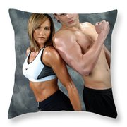 Fitness Couple 43 Throw Pillow
