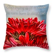 Fitting In By Diana Sainz Throw Pillow