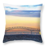 Fitting The Key - Pano Throw Pillow