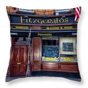 Fitzgeralds Pub - Dublin Ireland Throw Pillow