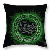 Fitz's In Green Neon  Throw Pillow
