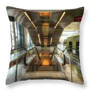 Fiumicino Airport Escalator Throw Pillow