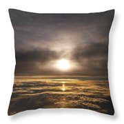 Five And A Half Mile Sunset Throw Pillow