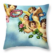 Five Angels Throw Pillow