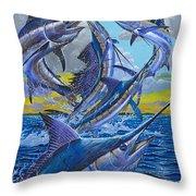 Five Billfish Off00136 Throw Pillow by Carey Chen
