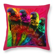 Five Card Monty Throw Pillow
