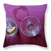 Five Cocktails Throw Pillow