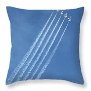 Five F-16 Fighting Falcons Reaching For Some Sky Throw Pillow