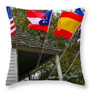 Five Flags Throw Pillow