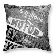 Five Gallon Motorcycle Oil Can Throw Pillow