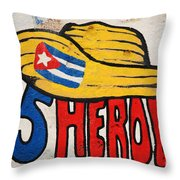 Five Heroes Cuba Throw Pillow