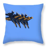 Four Hornets In Close Trail Throw Pillow