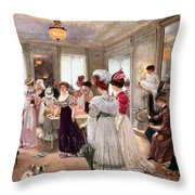 Five Hours At Paquin Throw Pillow