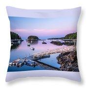 Five Islands Dawn Throw Pillow
