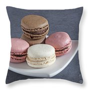 Five Macaroons Throw Pillow