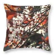 Five Petals - Spring Blossoms Throw Pillow