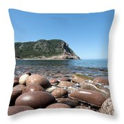 five steps to paradise - Giant pebbles is Menorca north shore close to Cala Pilar beach Throw Pillow
