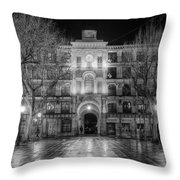 Five Till Seven In Black And White Throw Pillow