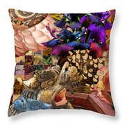 Five To One Throw Pillow