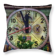 Five To Twelve Throw Pillow