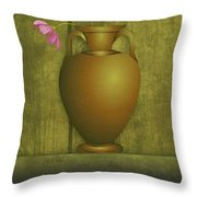 Five Vases One Flower  Throw Pillow