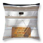 Fix It Shop Throw Pillow