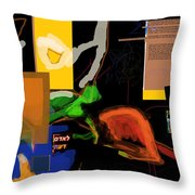 Fixing Space 1g Throw Pillow