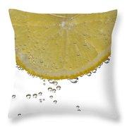 Fizzy Lemon Throw Pillow