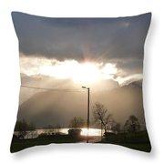 Fjord Sunset Throw Pillow