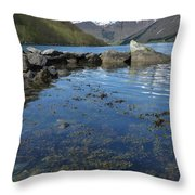 Fjord To The Sky Throw Pillow