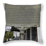 Fl-1020 Site Of First Ybor City Railroad Station 1887 Throw Pillow