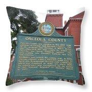 Fl-f304 Osceola County Throw Pillow