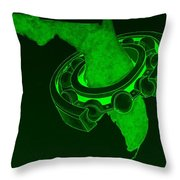 Fla Sprocket Green Throw Pillow