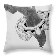 Fla Sprocket O Throw Pillow