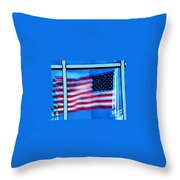 Flag Abstract Reflection Throw Pillow