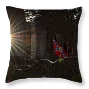Flag And Stone Throw Pillow