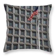 Flag And Windows Throw Pillow