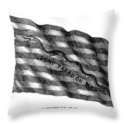 Flag: Dont Tread On Me Throw Pillow